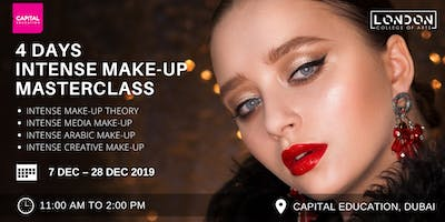 4 Days Intense Make-Up Masterclass  - LCA Capital Make-Up School