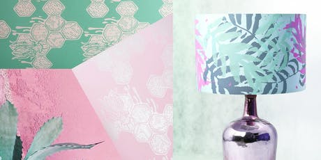 Print & assemble a Lampshade in a day - Creative printing onto fabric  tickets