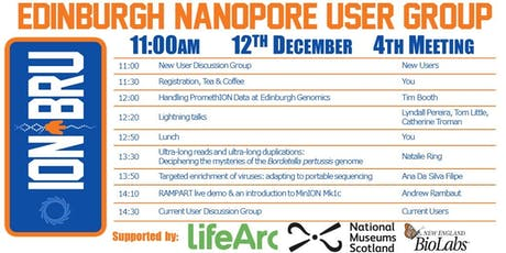 4th Edinburgh Nanopore User Group (ION_BRU) Meeting tickets