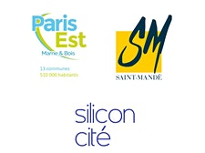 Le Territoire Paris Est Marne & Bois, la Mairie de Saint-Mandé et Silicon Cité  logo