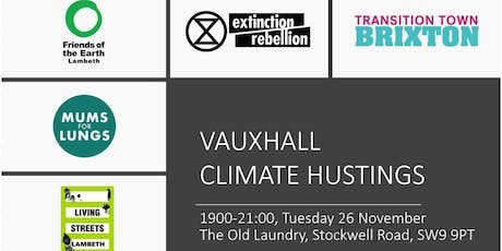 Vauxhall Climate Hustings tickets