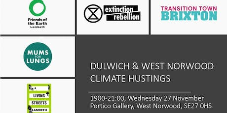 Dulwich and West Norwood Climate Hustings tickets