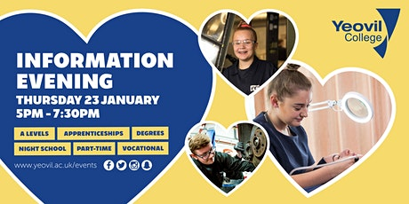 Yeovil College Information Evening - January 2020 tickets