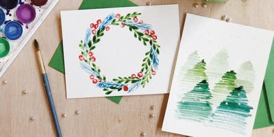 Watercolor Florals and Holiday Cards