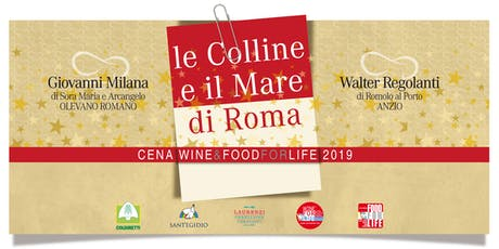 Cena WINE & FOOD FOR LIFE 2019 biglietti