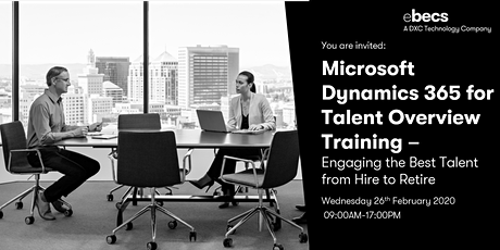 Microsoft Dynamics 365 for Talent Overview Training tickets