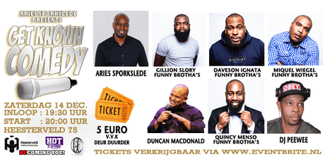 GET KNOWWN COMEDY tickets