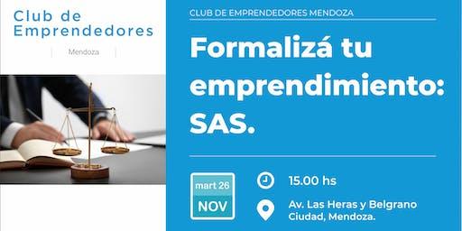 Formalizá tu emprendimiento: SAS