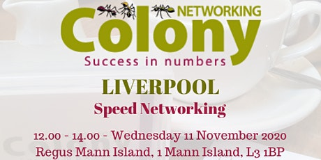 Colony Speed Networking (Liverpool) - 11 November 2020 tickets
