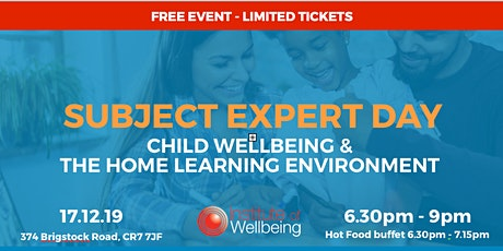 Subject Expert Day. Child wellbeing and the home learning environment tickets