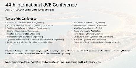 44th International JVE Conference tickets