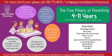 The Five Pillars of Parenting: 4 to 11 Years (Dad's Only) tickets