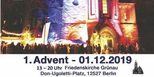 Adventsstimmung an der Grünauer Friedenskirche