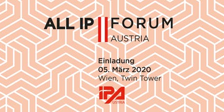 All IP AUSTRIA 2020 Tickets