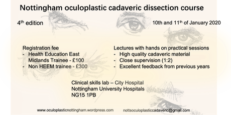 Nottingham Oculoplastics Cadaveric Course 2020 tickets