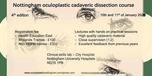 Nottingham Oculoplastics Cadaveric Course 2020