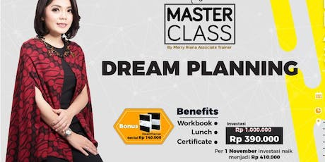 MASTERCLASS DREAM PLANNING -How To Plan and Achieve Your Goal Within 1 Year tickets
