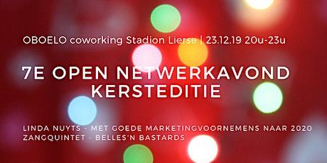 7e Open Netwerkavond, Kersteditie, coworking OBOELO Stadion Lierse tickets
