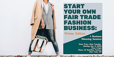 Start Your Own Fair Trade Fashion Brand - Winter Edition tickets