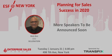 Planning for Sales Success in 2020 tickets