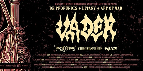 VADER  (UK Exclusive) + DEFILED + CHRONOSPHERE at The Underworld, London tickets