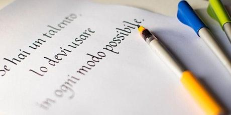 L'Italico: scrittura corsiva per eccellenza biglietti