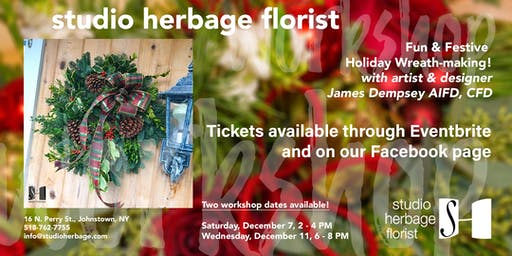Fun & Festive Holiday Wreath-making!