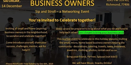 Small & Home Business Owners Networking Event tickets