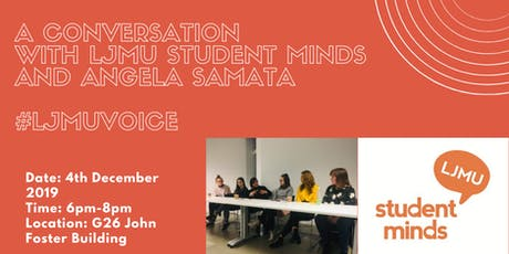 A Conversation with LJMU Student Minds & Angela Samata tickets