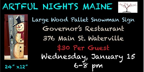 Large Wood Pallet Snowman Sign at Governor's Waterville tickets