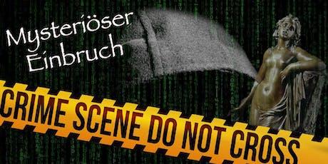 """Schnüffel-Kriminalfall """"Mysteriöser Einbruch"""" am 22.02.2020 tickets"""