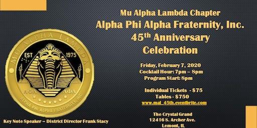 MAL  Leadership Foundation Presents:  45 Years of Mu Alpha Lambda
