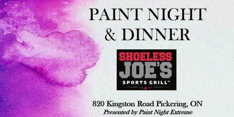 PAINT NIGHT & DINNER FOR 2 AT SHOELESS JOE'S - Dec 1st, 2019 tickets