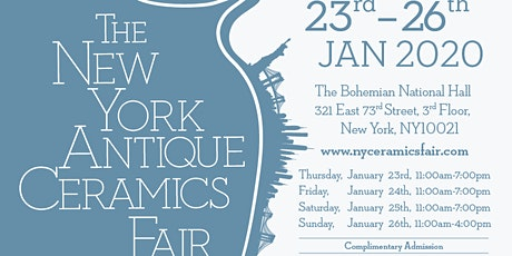 The New York Antique Ceramics Fair tickets