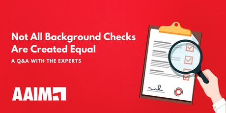HR Roundtable: Not All Background Checks Are Created Equal - Afternoon tickets