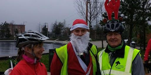 Santa Cycle along the Connswater Community Greenway