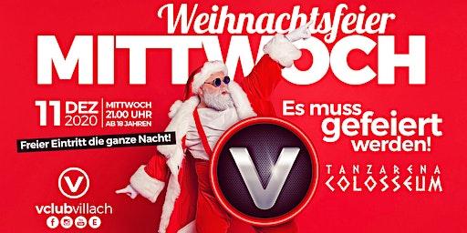 Der Weihnachtsfeier Mittwoch im V-Club Villach