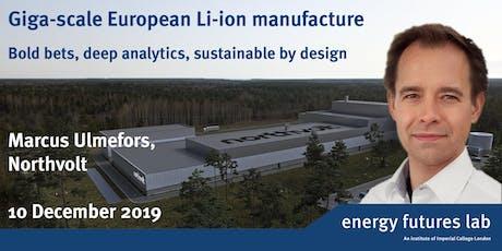 Giga-scale European Li-ion manufacture tickets