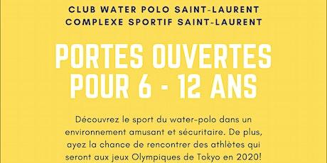 Portes ouvertes du Club de Water-Polo Saint-Laurent pour 6 à 12 ans ! tickets