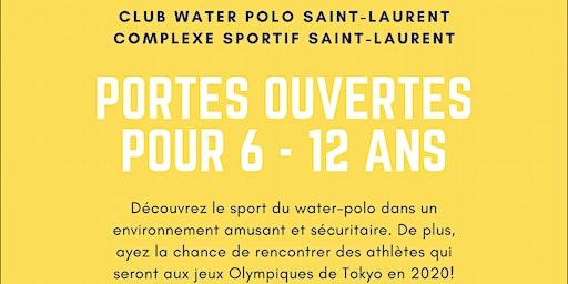 Portes ouvertes du Club de Water-Polo Saint-Laurent pour 6 à 12 ans !