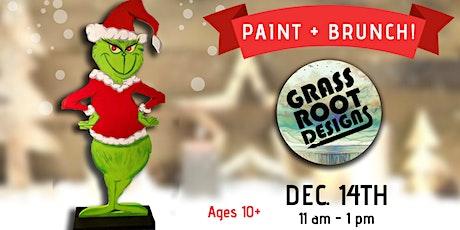 Standing Grinch Figurine| Paint + Brunch! tickets