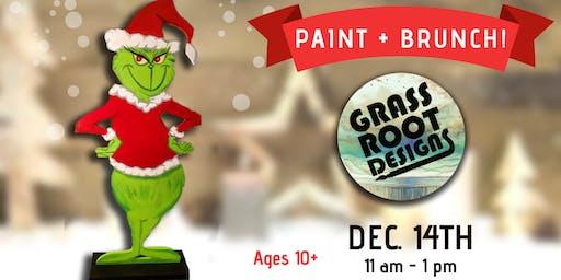 Standing Grinch Figurine| Paint + Brunch!