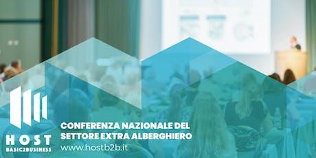 HOST B2B 2020, Conferenza Italiana del settore Extra Alberghiero biglietti