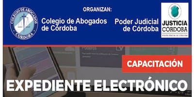 Capacitación sobre Expediente Electrónico, Colegio de Abogados de Córdoba.