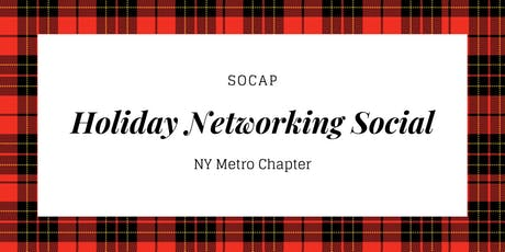 SOCAP Holiday Networking Social tickets