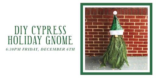 DIY Cypress Holiday Gnome