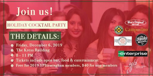 YPBirmingham 2019 Annual Holiday Party Sponsored by Enterprise Rent-A-Car