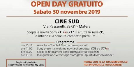 Open Day Sony - Matera biglietti
