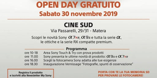 Open Day Sony - Matera