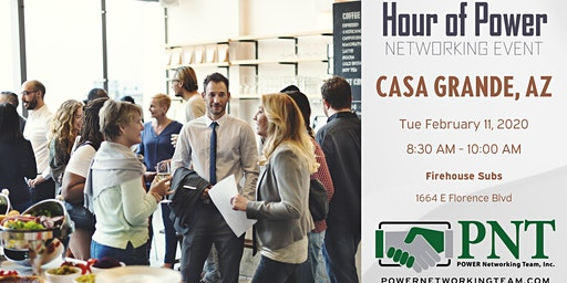 02/11/20 - PNT Casa Grande - Hour of Power Networking Event